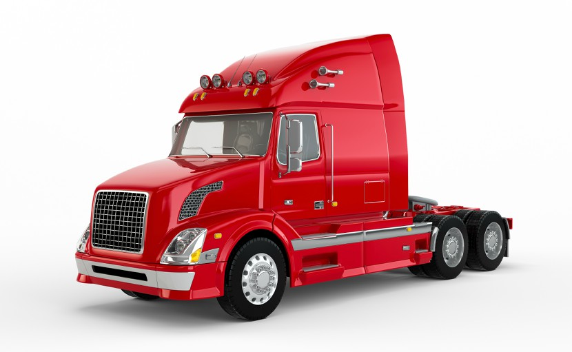 Red truck without trailer